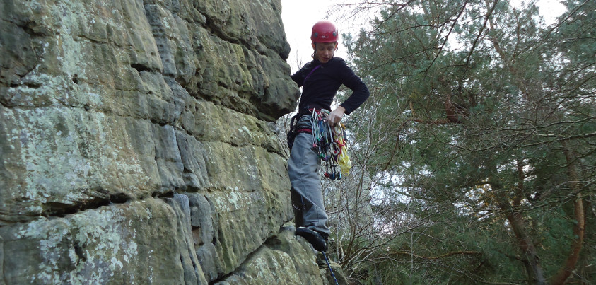 Learning to Lead Rock Climbing Courses